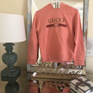 *Authentic*Gucci logo long sleeves hoodies